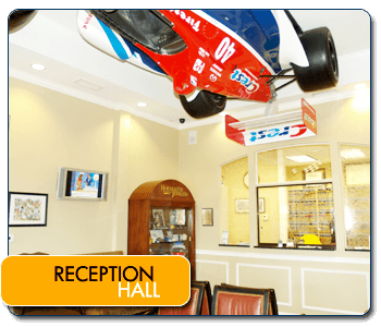 Reception Hall in Indy Dental Group in Carmel